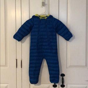 L.L. Bean toddler one piece puffer snowsuit.